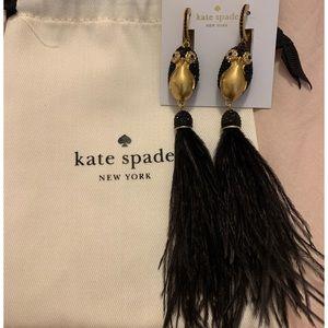 Kate Spade ♠️ NWT Penguin 🐧 Feather Earrings NWT